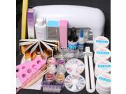 New Arrived 9W UV Dryer Lamp Block Sanding False Nail Art Tips Gel Tools DIY Kit