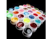 Hot 30 PCS Glitter Dust Shimmer Color UV Builder Gel DIY Nail Art Tips US Seller