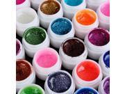 USPS Ship New 36 Glitter Mixed Color UV Builder Gel Acrylic Nail Art Tips Kit