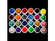 HOT Professional 24 Color Pearl UV Builder Gel Set for Nail Art Tips US Seller