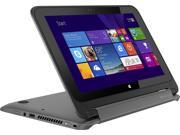 HP Pavilion x360 2-in-1 11.6-Inch Touchscreen Convertible Ultrabook / Intel Pentium N3520 / 4GB / 500GB Hard Drive / Windows 8.1 / WiFi / HDMI / Webcam / Bluetooth / No optical drive / Smoke Silver
