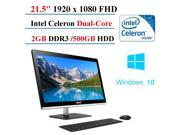 2017 Newest ASUS All-in-One Desktop 21.5-inch, Intel Celeron J1800 Dual-Core, 2GB DDR3, 500 GB HDD, Windows 10 Home