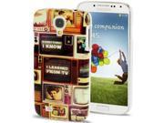 Nostalgic TV Pattern Plastic Case for Samsung Galaxy S 4 / IV / i9500