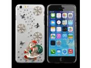 Christmas Handmade Bling Santa Claus Shape Case For iPhone 6 Plus