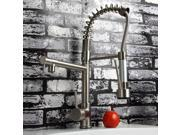 Polished Nickel Finish Solid Brass High Pressure Pull-down Spring Kitchen Faucet