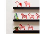 Europe Little Horse PVC Removable Wall Sticker Red