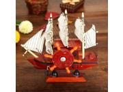 DIY Wooden Music Box Sailboat with Blue Sail Music Box