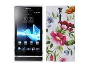 Peony Pattern TPU Case for Sony Xperia S / Lt26i
