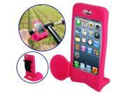 Hands-free Amplifier, Horn Bike Stand Speaker Silicon Case for iPhone 5 /iPhone 5S  (Magenta)