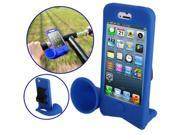 Hands-free Amplifier, Horn Bike Stand Speaker Silicon Case for iPhone 5 /iPhone 5S  (Blue)