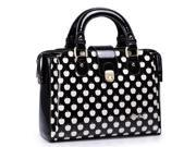 Stylish PU Leather Contrast Color Handbag / Single-shoulder Bag  (Black)