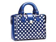 Stylish PU Leather Contrast Color Handbag / Single-shoulder Bag  (Blue)