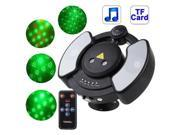 Disco Laser Player Music Player Party Stage Lighting with Remote Control, Support TF Card (Black)