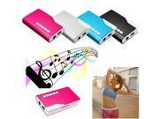 Digital Mini Metal USB MP3 Music Media Player Support Micro 8GB SD TF Card (Blue)
