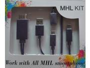 MHL Kit 6.5 Feet(2M) Universal MHL Micro USB to HDMI Cable 1080P HDTV Adapter (Include Micro 5 Pin to 11 Pin Adapter) for Samsung Galaxy S5 S4 S3 S2 Mega Note 3 Note 2 Note , Galaxy Tab 3 Pro, Galaxy
