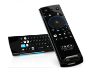 CFCT F10 PRO-B Fly Air Mouse Wireless Remote Control Keyboard - USB 2.4GHz, Earphone, Microphone, Speaker for Android Mini PC Gyroscope