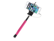 Z07-5S Extendable Selfie Stick Extendable Monopod Tripod With Button Handheld Wired Cable Take Pole for iPhone IOS Android