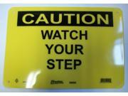 Master Lock Caution Watch Your Step Sign Black on Yellow S9800