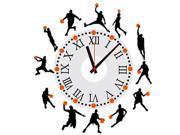 ZNUONLINE Basketball Play Man Time Clock Murals Decal Wall Sticker