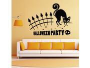 ZNUONLINE Wall Decal Black Skull Kitty Cat Wall Sticker