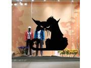 ZNUONLINE Wall Decor Black Roaring Cat Wall Sticker