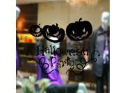 ZNUONLINE Wall Decal Black Halloween Party Pumpkin Wall Sticker
