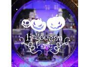 ZNUONLINE Wall Decor White Halloween Party Pumpkin Wall Sticker