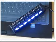 high speed USB 2.0 USB 3.0 HUB with power separate switches 7 port hub plug splitters orico for notebook computer external drive