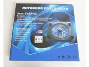 USB Laptop Cooler Notebook Cooling pad stand Muting laptop heat sink with pedestal fan for 14 and 15.6-inch notebook