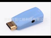 1080P HDMI Female to VGA Display Converter Adapter With Audio PC HDTV HVA-ADF