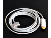 6 FT 1.8 M 30 pin Dock Connector to Dock Connector to HDMI HDTV AV Digital Adapter Cable for iphone iPad iPad 2 3 iPhone 4 4S iPod Touch 4 (1080P)
