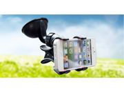 Windshield Car Double Clip Mount Window / Desktop Suction Cup Holder Stand Cradle for iPhone, iPod touch, Samsung Galaxy , HTC One,Google Nexus 5, Smartphone, Android Phone, PDA, MP3, MP4, GPS