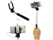 Hand Held Wire Self-timer Lever Adjustable Extendable Monopod Selfie Stick with Phone Holder for Iphone Samsung and Other System Over Ios 6.0 and Android 4.2.2 Smartphones