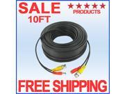 10ft SECURITY CAMERA VIDEO CABLE SIAMESE CCTV BNC POWER