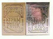 New 2 Decks Bicycle SteamPunk Standard Poker Playing Cards Silver & Bronze Mothers' Day Gift For Mom