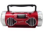 New Red Supersonic SC-1398 Portable/Rechargeable MP3 Player USB/SD/AUX +AM/FM Radio