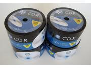 New 200 pk HP 700 MB 52X CD-R Blank Media Disc CDR Bulk Pack