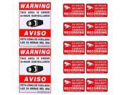 VideoSecu Warning Sign 2 Large Decals 10 Small Stickers for CCTV Security Camera Surveillance DVR System CKK