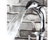 kitchen bath bathroom basin double handle mixer taps water sink dolphin faucet