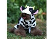 Fashion Cow Fleece Costume Jumpsuit Coat Hoodie Clothes Pet Dog Christmas Lovely
