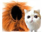 Pet Costume Lion Mane Wig for Cat Halloween Clothes Dress up Cute Style