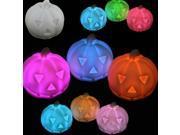 LED Colorful Pumpkin Light Halloween Party Decore Prop Bedside Table Lamp