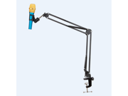 Portable Desk Microphone Mic Suspension Boom Scissor Arm Stand Holder For Studio