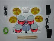 MD1008 Portable Roll-up Electronic USB Midi Drum Kit With Drumsticks Pedals