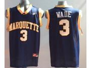 Marquette Golden EaglesNCAA Jersey NO.3 Wade Basketball Jersey -Dark Blue