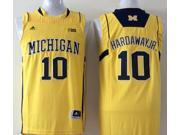 Michigan Wolverines NCAA Jersey NO.10 Hardaway Jr. Basketball Jersey