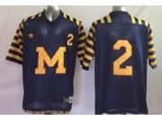 Michigan Wolverines NCAA Jersey NO.2 Basketball Jersey Short Sleeves Shirt