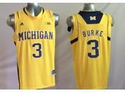 Michigan Wolverines NCAA Jersey NO.3 Burke Basketball Jersey