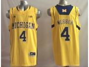 Michigan Wolverines NCAA Jersey NO.4 Webber Basketball Jersey