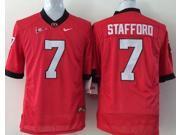 Georgia Bulldogs NCAA Football Jersey NO.7 Stafford Adult's Football Wear Georgia Football Shirt M-XXXL